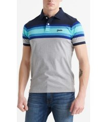 superdry organic cotton malibu stripe men's polo shirt