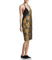 lonia floral jacquard dress