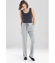 natori ulla wide leg pants, women's, grey, size l natori