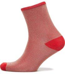 dina solid coll. lingerie hosiery socks röd becksöndergaard