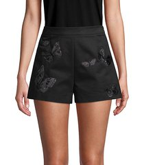 embroidered butterfly cotton shorts