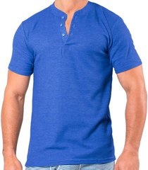camiseta manga corta azul clásico santana henley
