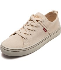 tenis beige levis sherwood low
