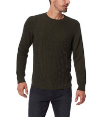 men's paige brock crewneck sweater, size large - green