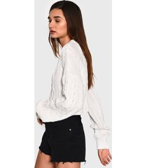 sweater glamorous blanco - calce holgado