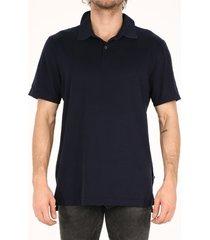 james perse cotton polo shirt blue