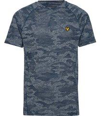 camo sports tee t-shirts short-sleeved blå lyle & scott sport