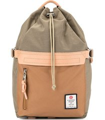 as2ov drawstring top backpack - brown