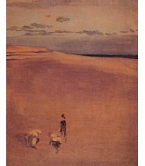12x16 inches whistler james the beach at selsey bill 1865 canvas print