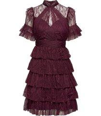 liona dress knälång klänning lila by malina