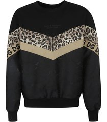 dolce & gabbana logo print patterned sweater