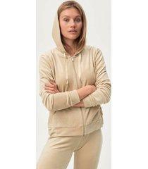huvtröja cecilia velour hoodie