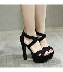 peep toe sandalias de tacón alto para mujer bombas sandalias zapatos