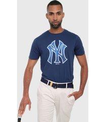 camiseta azul navy-blanco mlb new york yankess