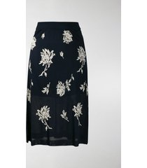 chloé floral print layered skirt