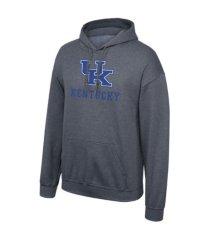 retro brand kentucky wildcats men's screenprint big logo hooded sweatshirt