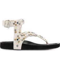 isabel marant elwina thong sandals - neutrals