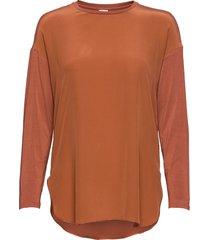 nodo blouse lange mouwen oranje max mara leisure