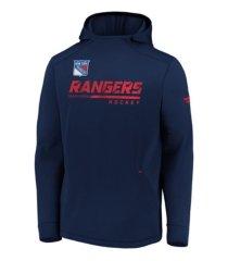 majestic new york rangers men's locker room rink hoodie