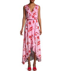 floral-printed blouson dress