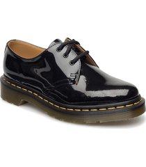 1461 black patent lamper snörade skor låga svart dr. martens
