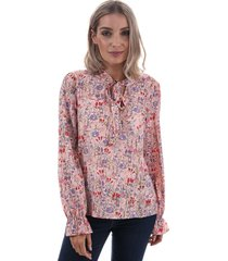 vero moda womens lady pussybow blouse size 6 in pink