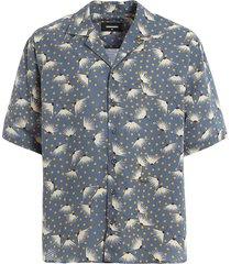 cotton peacock bowling shirt