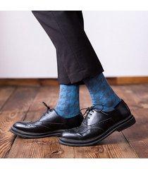 imbottito comodo da uomo in cotone vintage traspirante per uomo calze sottopentola centrale da uomo casual calze