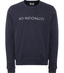 nn07 navy matteo logo sweatshirt 3355