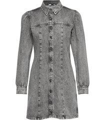 enspruce ls dress n 6693 knälång klänning grå envii