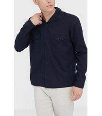 premium by jack & jones jprblabrentford overshirt l/s skjortor mörk blå