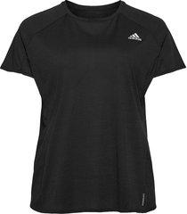 runner t-shirt w t-shirts & tops short-sleeved svart adidas performance