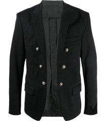 balmain decorative buttons blazer - black