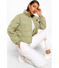 square quilted puffer jacket, sage