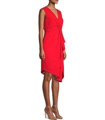 adrianne asymmetrical sheath dress