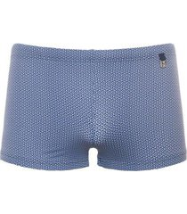 hom swim shorts - topaz blauw/wit