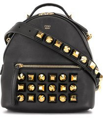 fendi pre-owned oversized stud crossbody bag - black