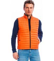 chaleco naranja tommy hilfiger lw packable down vest
