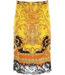 versace barocco print skirt