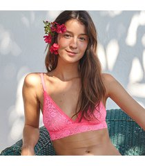 suti㣠joge top rosa - rosa - feminino - dafiti