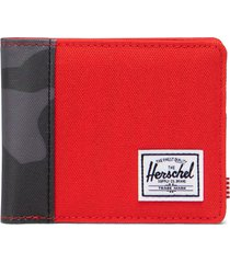 herschel supply co. roy rfid wallet in fiery red/night camo at nordstrom