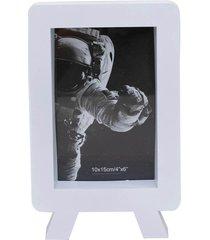 porta retrato minas de presentes 1 foto 10x15cm branco - branco - dafiti