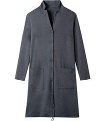 jersey mantel met verstelbare revers, antraciet 52