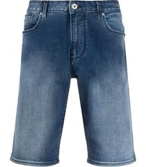 emporio armani straight leg shorts - blue