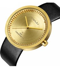 orologio da polso al quarzo con cinturino in pelle da uomo, cronografo in stile casual, orologio da polso impermeabile