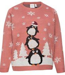 jrpingo ls knit pullover - s stickad tröja rosa junarose