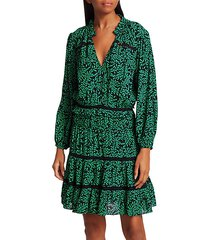salama leaf-print blouson dress
