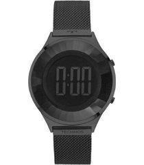 relógio feminino technos bj3572ab/4p digital aço