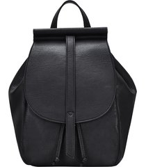 antik kraft california faux leather backpack - black