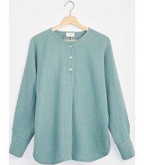 lou & grey triple cloth henley tunic shirt